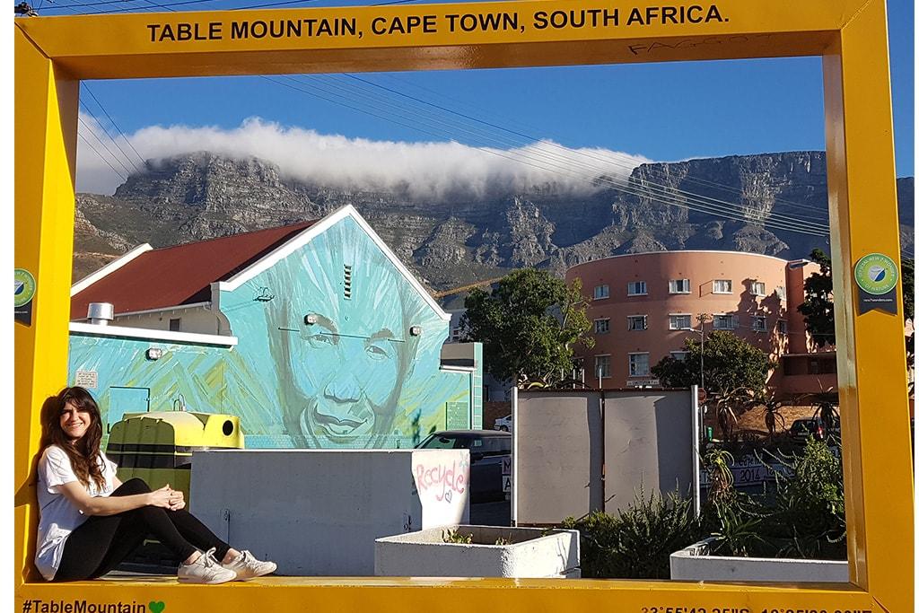 cape town centro historico. Mandela al fondo