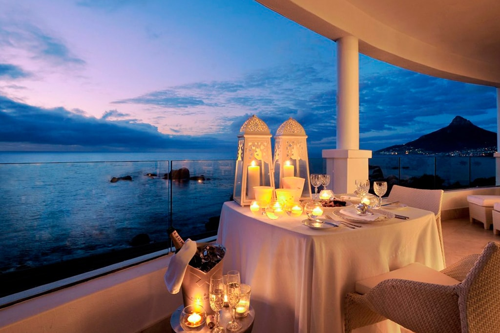 Terraza habitacion Hotel One and Only en Cape Town