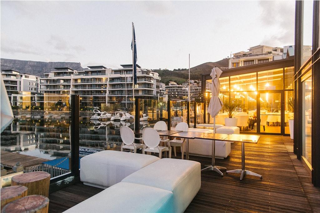 Terraza del Restaurante Vista Marina en Cape Town