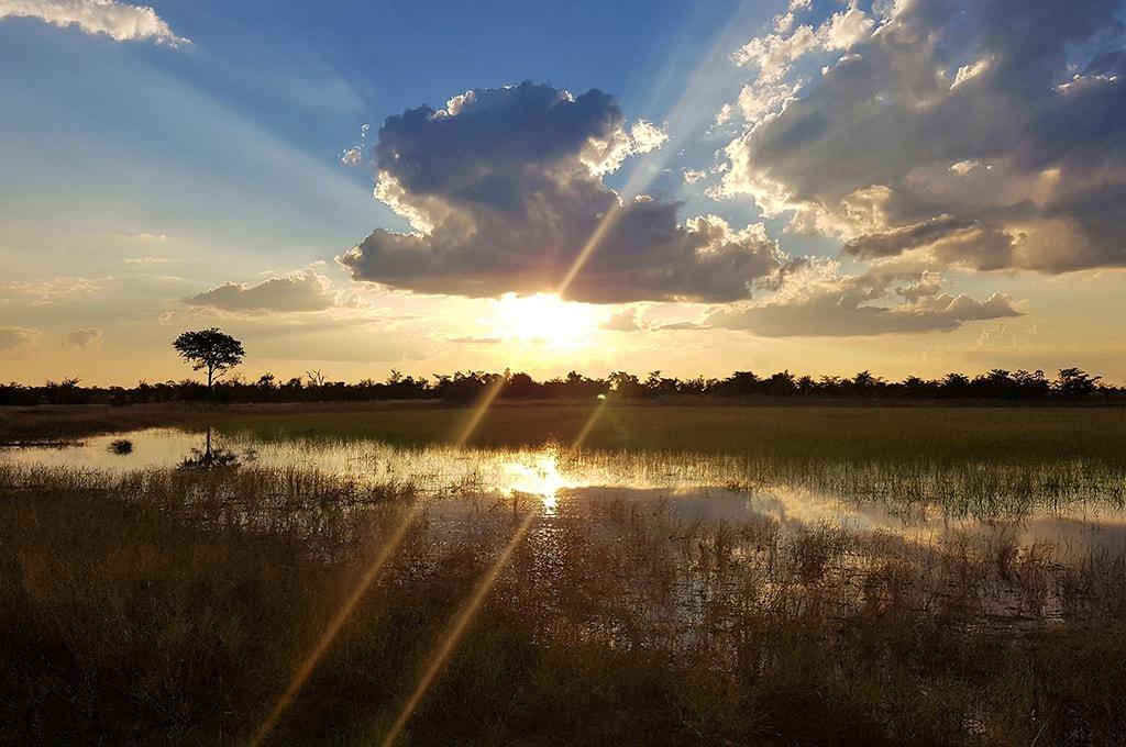 atardecer en Rio Chobe