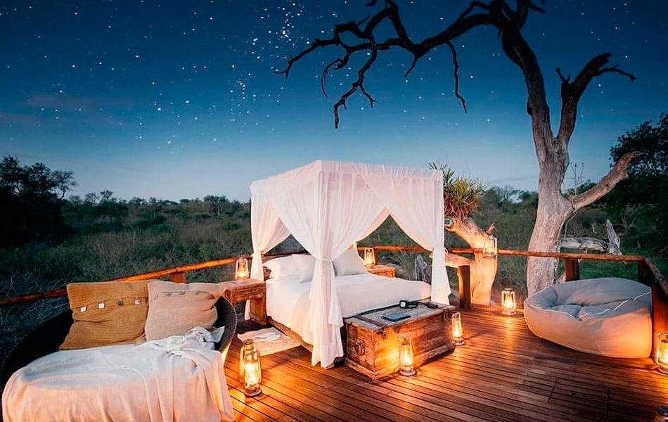 Ver estrellas desde la cama en Africa