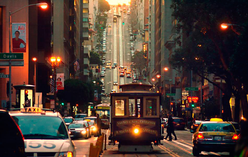 calle empinada de San Francisco- USA