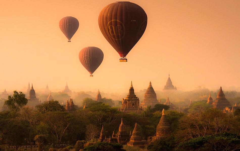 globos sobre la india