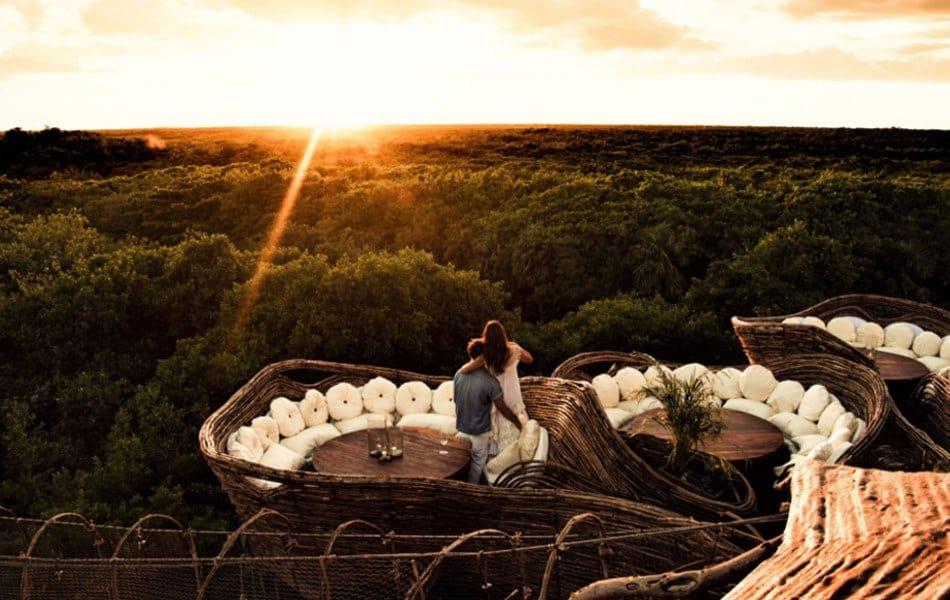 Azulik vista terraza lujo