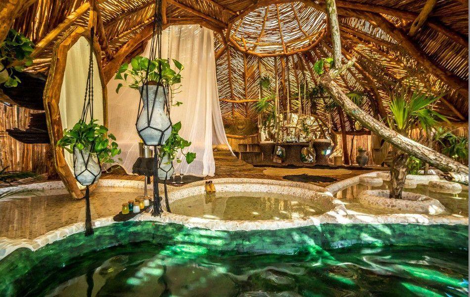 Azulik piscina interior de lujo