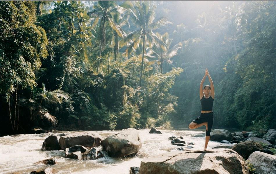 Como Shambhala en Balí. Yoga