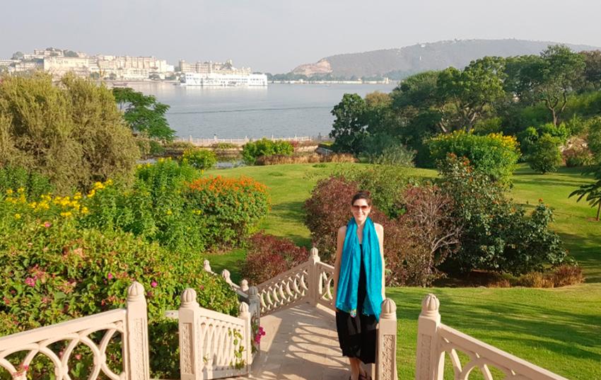 Hotel Oberoi Udaivilas jardines