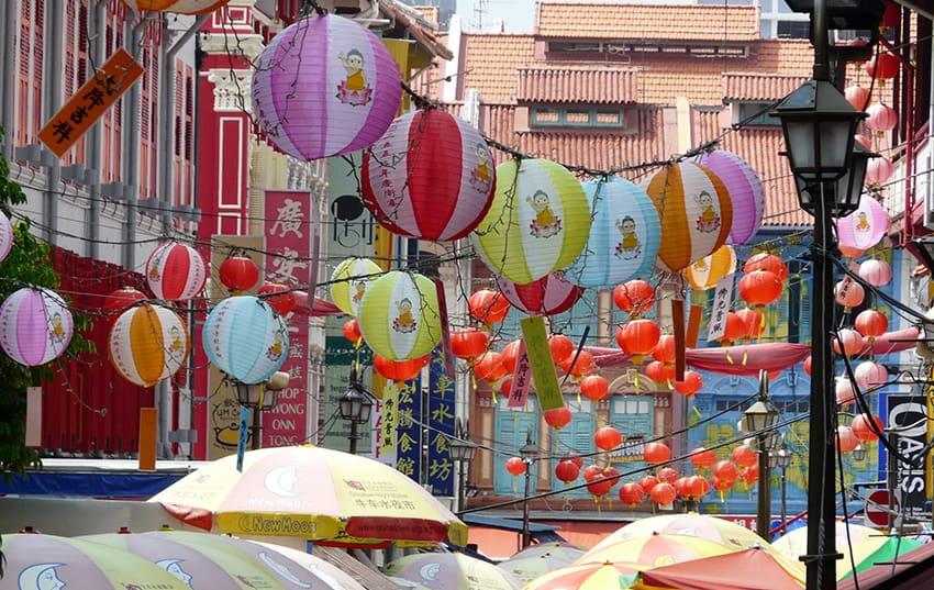 zona Chinatown en Singapur