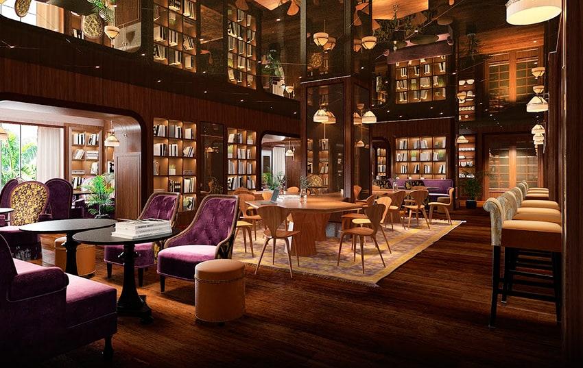 salon del hotel Six Senses Maxwell en Singapur