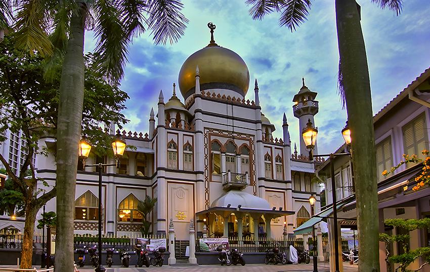 la Mezquita del Sultán en Singapur