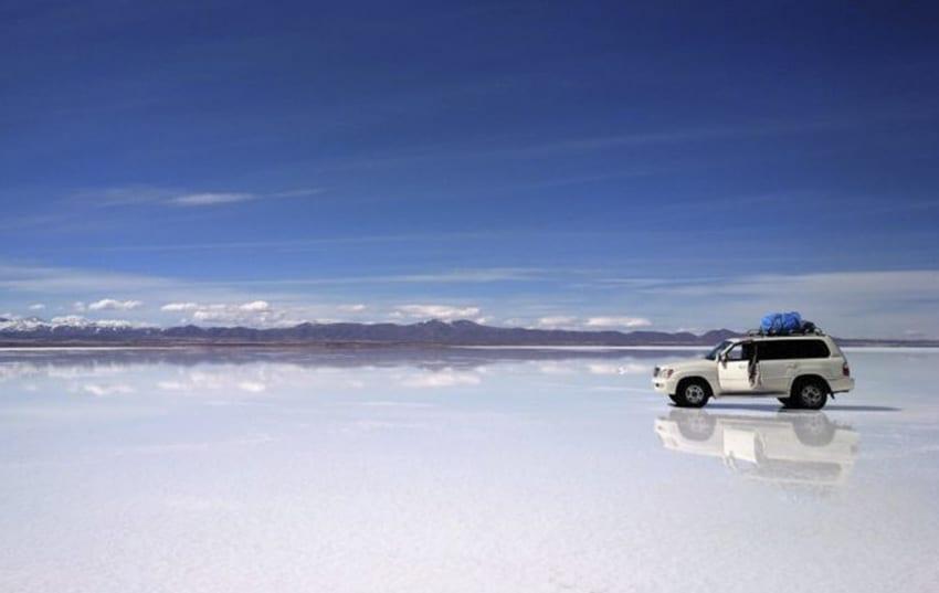 desierto de sal en Bolivia