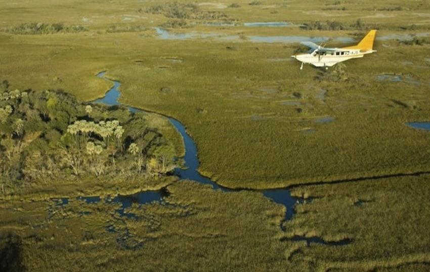 Safari en avioneta en Botswana