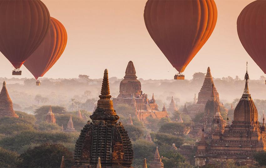 myanmar desde globos aerostaticos