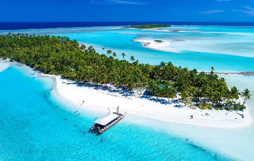 playa de lujo para viaje de novios a islas Cook