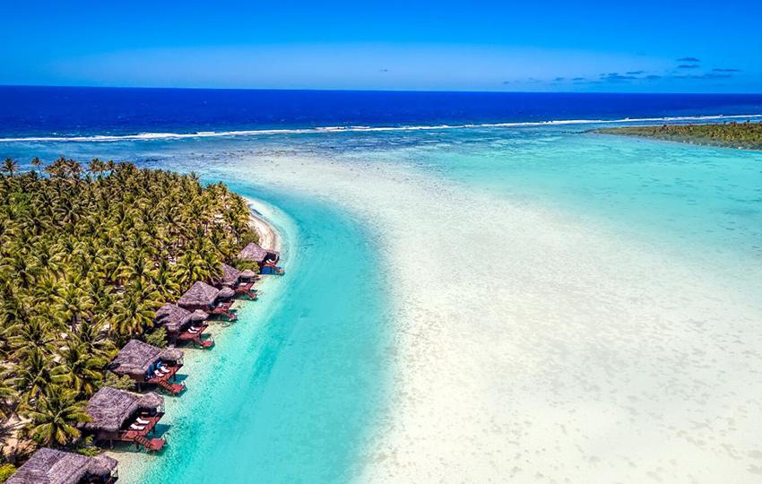 resort en islas Cook para luna de miel de lujo