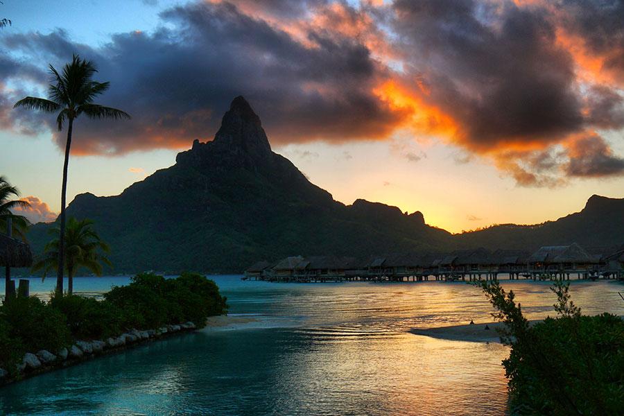 Polinesia destino luna de miel en resort lujo