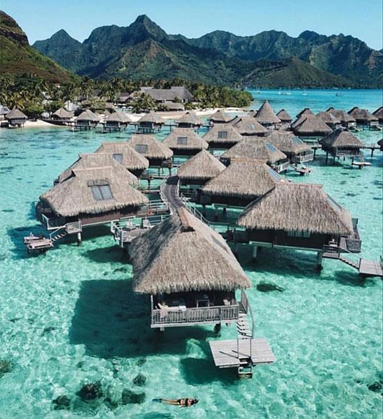 Polinesia resort de lujo viaje de novios