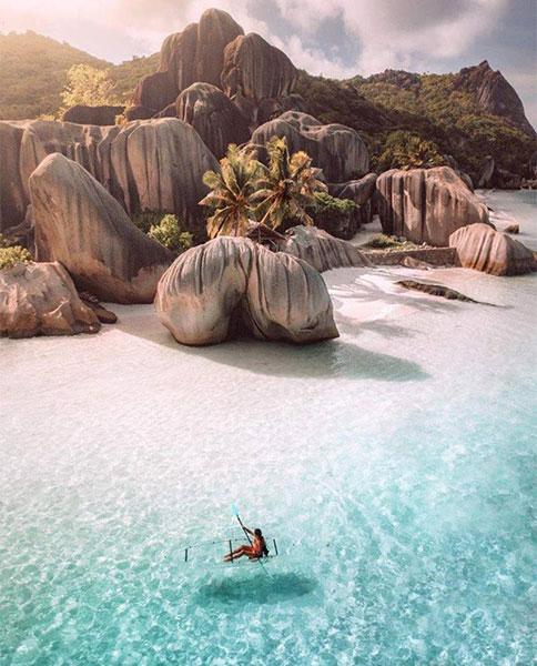 Seychelles playa lujo